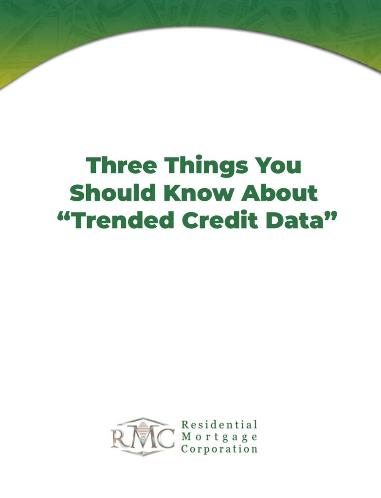 three things you should know about trended credit data